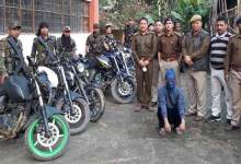 Arunachal: Itanagar Police recovered huge catch of stolen two wheelers