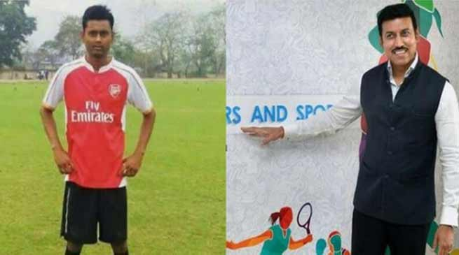 Assam : Sports ministry help for ailing Guwahati footballer Sumit Rabha