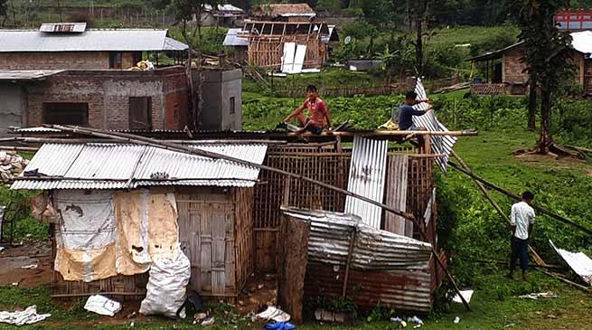 Arunachal : Storm and thundershower lashes Yupia