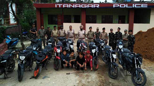 Arunachal : Capital Police bust gang of bike lifters, 4 arrested