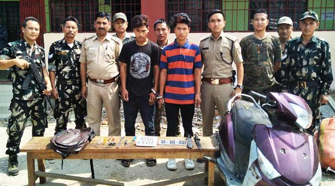Itanagr : Capital Police again nabbed two bike lifters