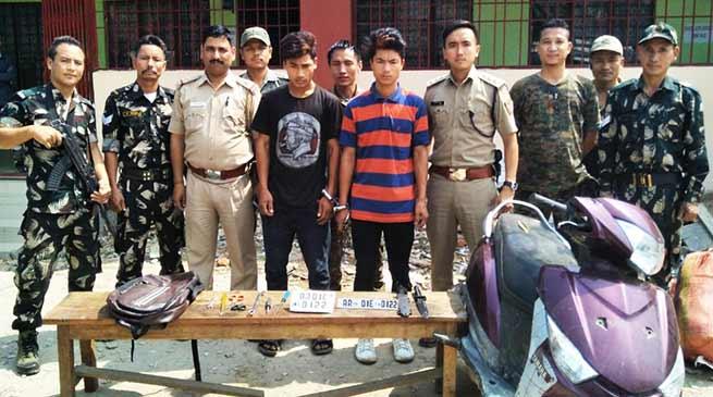 Itanagr : Capital Police again nabbed two bike lifters