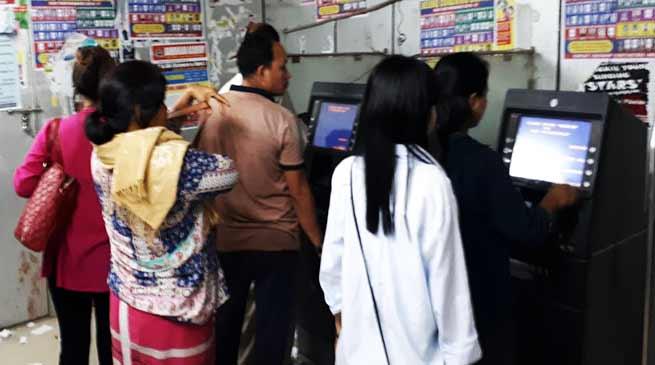 Arunachal : Cash Scarcity in ATM, Bank in Itanagar