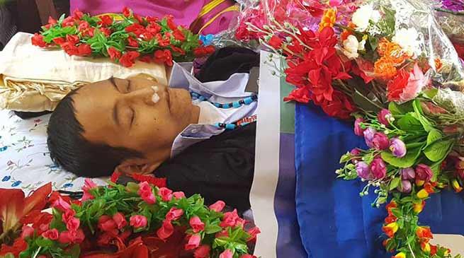 Arunachal : Darasing Tayeng Mortal remains laid to rest