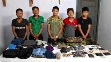 Arunachal : Security Forces apprehend 5 ENGG Militants