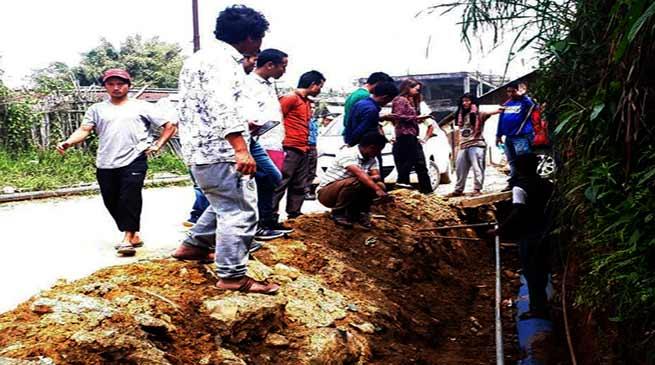 Itanagar : Admin inspect drainage system in Niti Vihar-Senki Park area