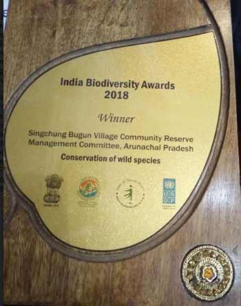 Arunachal: Singchung Bugun Village Community Reserve bags National Biodiversity Award