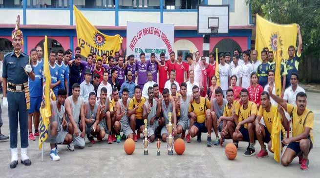 Arunachal: Inter company Basketball tournament