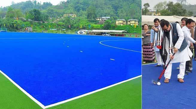 Arunachal: Mein inaugurates Astro-Turf Hockey Ground at Chimphu