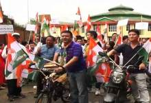 Arunachal: Congress protest rally against petrol-diesel price hike