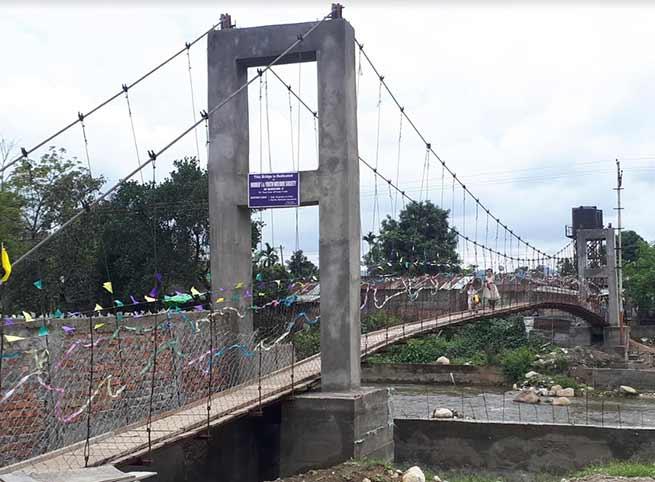 Arunachal: Techi Kaso inaugurates Foot Suspension Bridge over Senki River