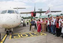 Photo of Arunachal: First Commercial flight lands in Pasighat