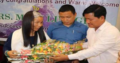 Arunachal : Sports dept felicitates Mountaineer Muri linggi