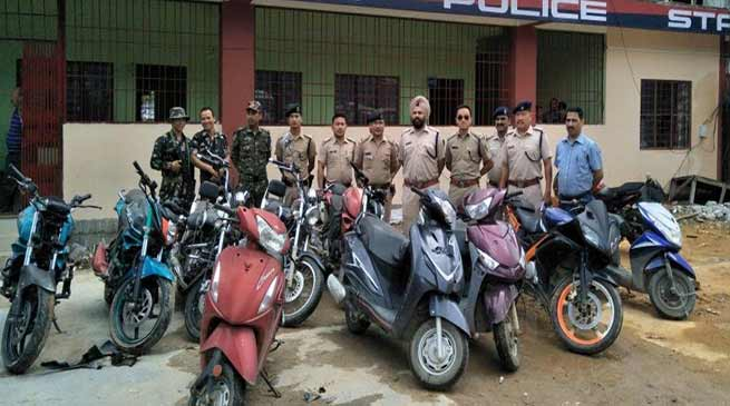 Arunachal: Capital Police recovered 12 Stolen two-wheelers