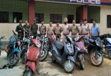 Photo of Arunachal: Capital Police recovered 12 Stolen two-wheelers