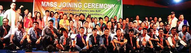 Arunachal: Congress, NPP workers join BJP in presence of Tapir Gao