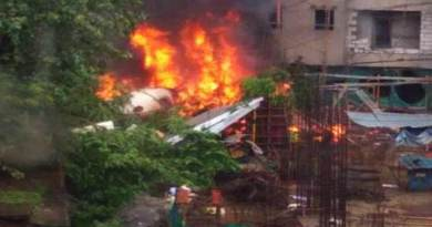 Mumbai- Charted plane crashes in Ghatkopar, 5 dead