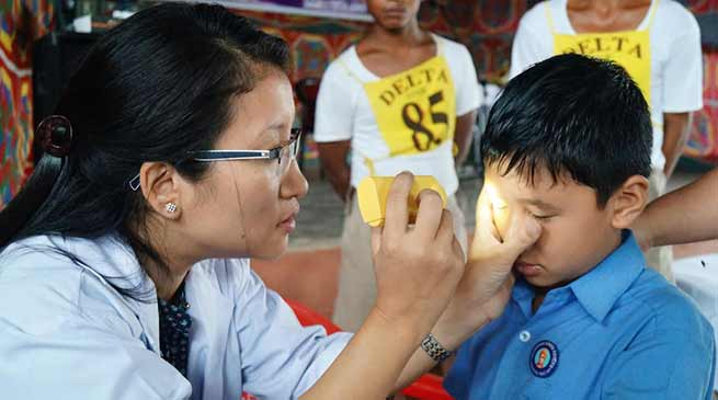Arunachal: PTC organises eye check up camp for student