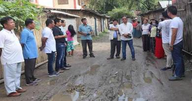 Itanagar: Techi Kaso visits APP Battalion Colony, assured to repair the road