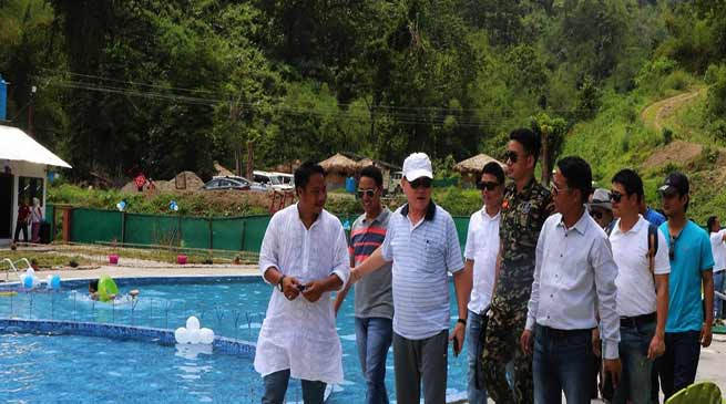Arunachal: Nabam Rebia inaugurates Swimming poll in Mani Village