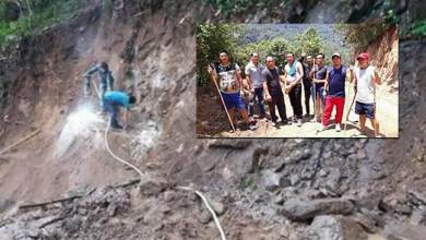 Photo of Arunachal: Villagers inspects under construction Kullung – Paga road