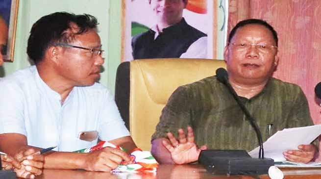 Itanagar: Congress demand cancellation of land allotment in IG Park