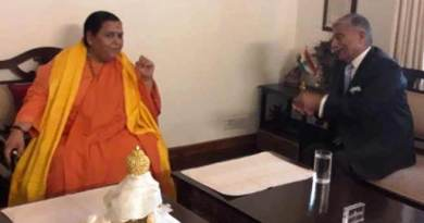 Arunachal: Governor meet Uma Bharti, discusses portable drinking water facilities