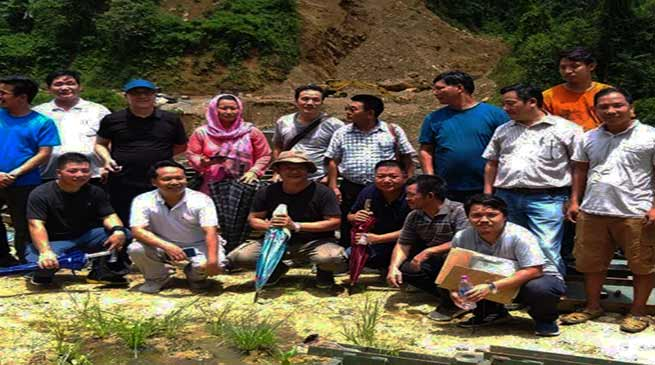 Arunachal: DC Kra Daadi Pige Ligu inspects road and bridge