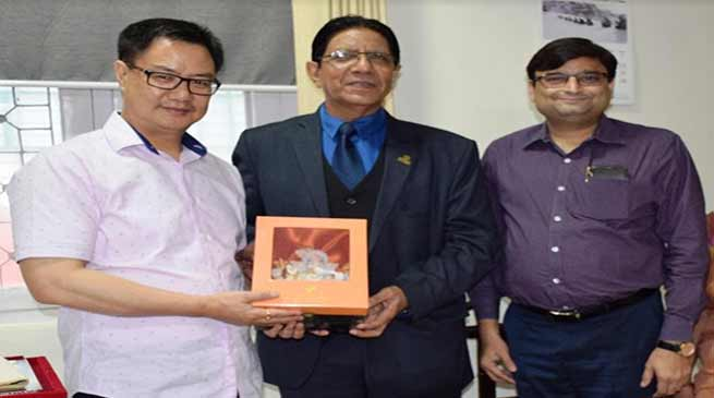 Arunachal:Honoris Causa Doctor of Literature Award conferred to Kiren Rijiju