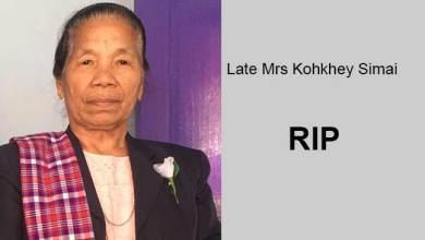 Photo of Arunachal: Mrs Kohkhey Simai, mother of BJP MLA Laisam Simaipasses away