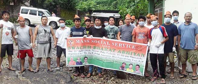 Arunachal:Mass Social services held at various places all over state