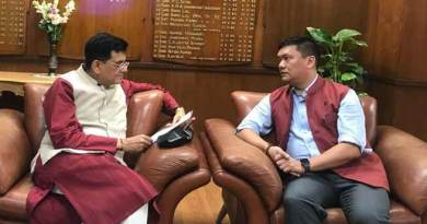 Khandu requests Goyal to expedite railway projects in Arunachal Pradesh