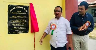 Itanagar: Kaso exhorted students and teachers to do hard work