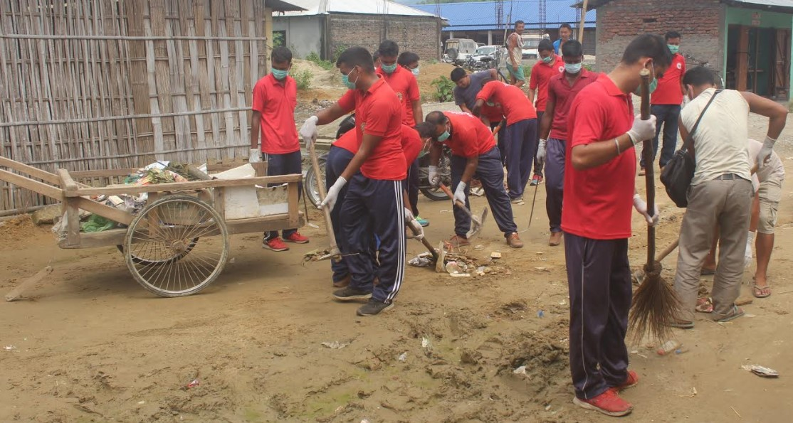 Assam: Clean drive in Hollongi Rajgadh Market