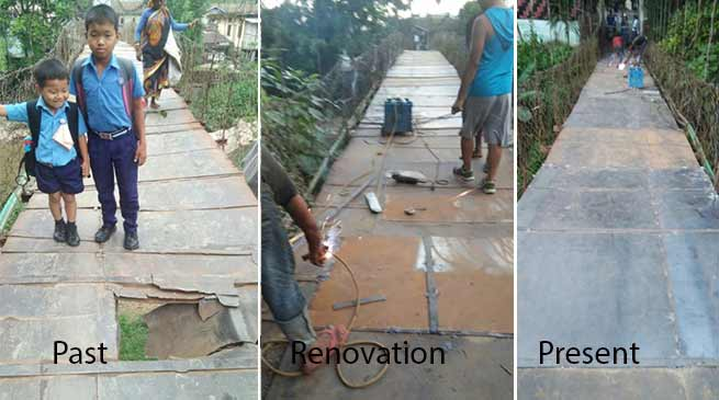 Itanagar : Hanging Bridge in Economics & Statistics colony renovated