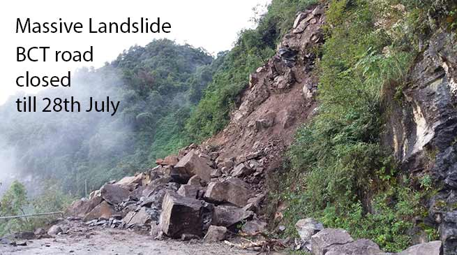 Arunachal: Bhalukpong-Charduar-Tawang road closed due to massive landslide