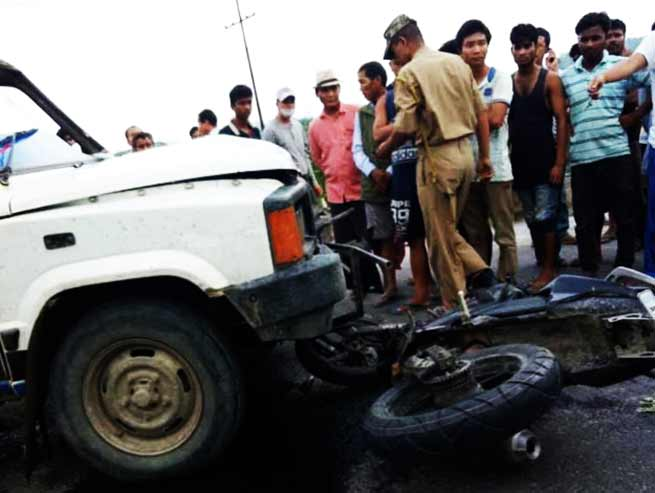 Arunachal:  3 injured in road accident in Capital Complex