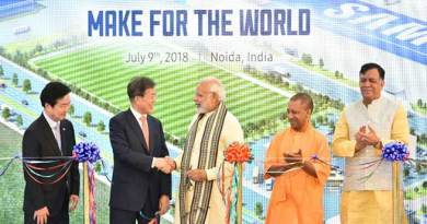 PM Modi inaugurates Samsung's mobile manufacturing unit in Noida