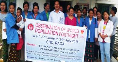 Arunachal: World population fortnight observed in Raga