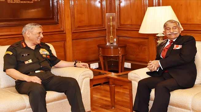 Arunachal:Governor meets Army Chief General Bipin Rawat