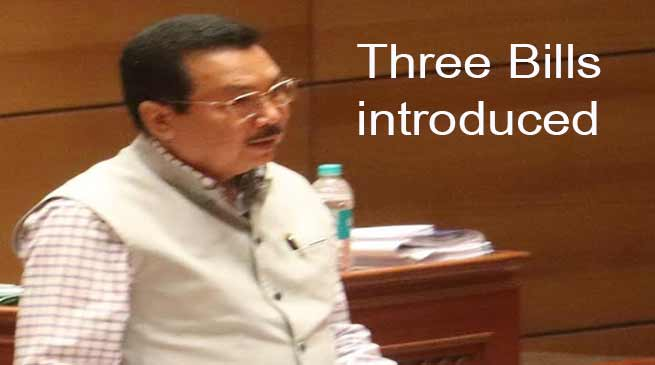 Arunachal:  DY CM Chowna Mein introduces three bills in Assembly