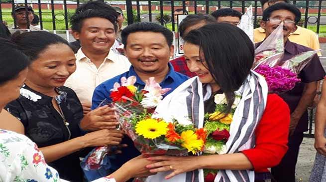 Arunachal: Dr Joram Aniya Tana accorded warm reception on her arrival