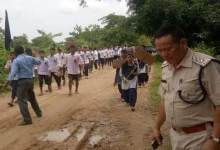 Photo of Minor's Rape Case: Protest March in Arunachal-Assam Border