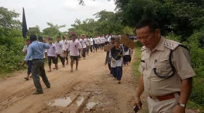 Minor's Rape Case: Protest March in Arunachal-Assam Border