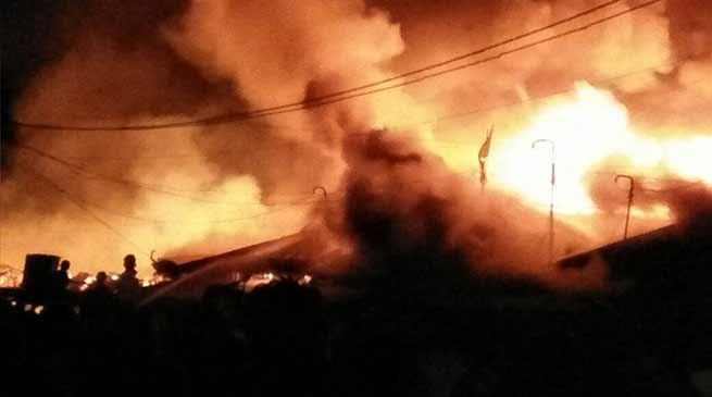 Arunachal: Raging Fire engulfs Roing Market