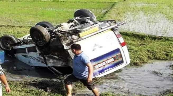Arunachal: Tata Sumo skidded off the road, 7 injured