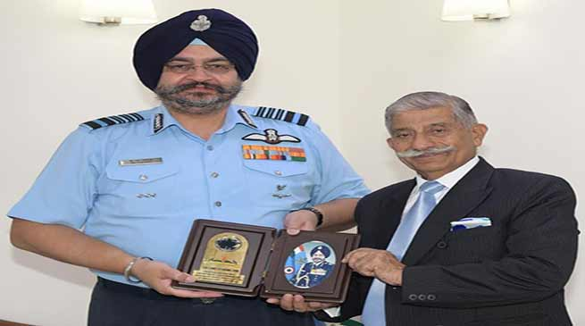Arunachal:Governor meets the Chief of the Air Staff and National Security Advisor