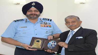 Photo of Arunachal:Governor meets the Chief of the Air Staff and National Security Advisor
