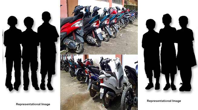 Itanagar:6 minor apprehended for stealing two-wheelers in capital complex
