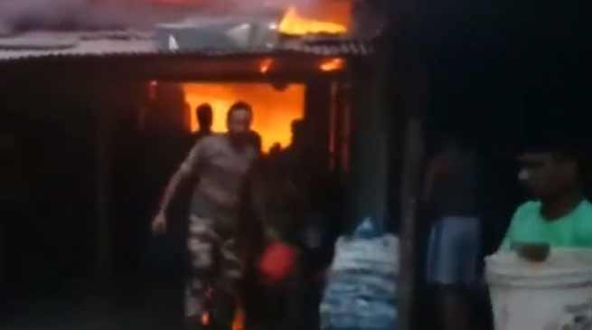 Arunachal: Massive fire at Bordumsa, seven shops gutted
